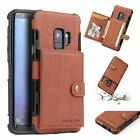 For Samsung Galaxy S9/ S8 Plus NOTE 9 8 Leather Case w/ Card Holder Wallet Cover <br/> For iPhone 6 7 &amp; 8 Plus,X, XS, XR, XS MAX, ✅ 6 color