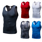 Men's Compression Vests Athletic Fitness Gym Tank Top Dri fit Stretchy Wicking
