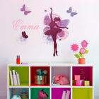 NEW NamePersonalised Name Glitter Ballerina and Butterflies Wall Sticker