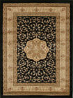 NEW Samatra Traditional Persian Style Black Ivory Rug