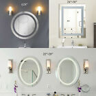 round mirror light - LED Bathroom Lighted Vanity Wall Mirror for Make up w/ Touch Button!!