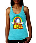 Go To Hell - Unicorn Rainbow Sarcastic Mythical Horse Imaginary RACER T-Shirt