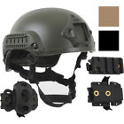 Tactical ABS Bump Helmet Airsoft Paintball Skate Bike Base Jump + Accessory Pack