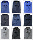 Men's Striped Cotton Shirt Classic collar Easy Care Formal Casual Long sleeve
