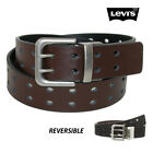 NWT LEVI'S Boys Black/Brown Two Hole Reversible Belt(Sizes S, XL) NEW