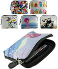 Super Soft Leather Coin Zip Purse/Card Holder With Picture Designs
