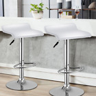 Set of 2 Swivel Bar Stools Backless Dining Chair Bar Pup Chair