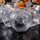 10 Clear Small 5g Grams/ML Plastic Jars for Cosmetic Sample Container Pot Cream