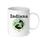 Coffee Cup Mug Travel 11 15 oz City State Country Indiana State Seal 2018