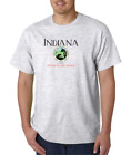 USA Made Bayside T-shirt City State Country Indiana Seal Home Sweet Home