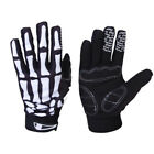 Skull Bone Skeleton Goth Racing Full Finger Gloves Cycling Motorcycle Biker
