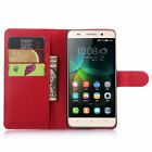 PU Leather Flip Phone Case Card Slot Wallet Stand Pouch Cover Magnetic Skin Red