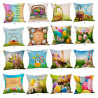 types of pillow filling - 2018 Happy Easter Pillow Cases Linen Sofa Cushion Cover Home Decor Pillow Case