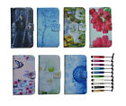luxury Wallet Magnetic flip Leather case cover card For various phones + stylus