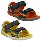 ROCCO SURF BOYS CLARKS INFANT LEATHER CASUAL BEACH SHOES RIPTAPE SUMMER SANDALS