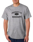 USA Made Bayside T-shirt USA State Property Of Mississippi