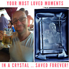 Personalised 3D Laser  Etched CRYSTAL GLASS BLOCK GIFT (YOUR PHOTO IN A CRYSTAL)