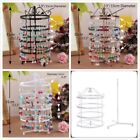 New Cylinder Antique 144 Earrings Jewelry Holder Round Metallic Stand Organizer