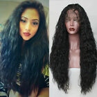 lace front wigs for black hair - Long Loose Curly Synthetic Lace Front Wigs Black Color Hair for Fashion Women