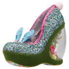 Irregular Choice Hop 2 It Womens Blue Multicolour Synthetic Wedges
