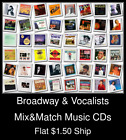Broadway & Vocalists(2) - Mix&Match Music CDs U Pick *NO CASE DISC ONLY*