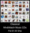 Classical(22) - Mix&Match Music CDs U Pick *NO CASE DISC ONLY*