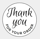 Printed Thank you for your order Sticker Labels Seals