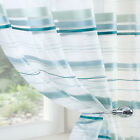 ORGANZA Voile Net Sheer Curtain Panel TEAL AQUA Tape Top Sizes inc Extra Long