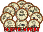 Historic & Classic Bikes - Brand T, V,W,Y Wall Clock with Historical Motorcycles $27.57 USD on eBay