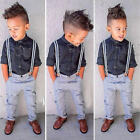 Boys Clothes Long Sleeves Bodysuit Outfit Clothing Cotton Blended brace trousers
