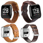 Sport Watch Band Strap For Fitbit Versa Genuine Leather Bracelet Smart Wristband image