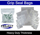Large XL GRIP SEAL BAGS Self Resealable Clear Polythene Poly Plastic Zip Lock