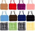 Multicolor Thick Square Kitchen Chair Cushion Tie On Dining Room Garden Seat Pad