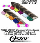 OSTER STAINLESS STEEL Metal Attachment GUIDE Blade COMB*Fit A5,Most Wahl Clipper