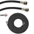 RG6 Coaxial Antenna Cable F Connectors TV Coax Cord Black White 25 50 100 FT Lot