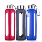 550ml Glass Water Bottle Sports Travel Bottles with Protecti