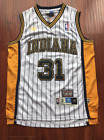 Indiana Pacers Reggie Miller Throwback Hardwood Stitch White Basketball Jersey