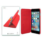 Logitech Hinge Flexible Stand Wallet Folio Canvas Case For iPhone 6 / iPhone 6s