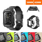 For Apple Watch Case Cover Series 4 3 2 Heavy Duty Tough Armor iWatch Band Strap image