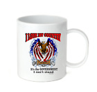 Coffee Cup Mug Travel 11 15 oz I Love My Country Government Stand Patriotic