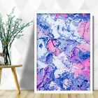 Abstract Painting Art Print Pink Blue Texture v1 Contemporary Wall Poster Decor