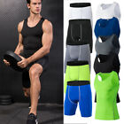 Mens Compression Shorts Vests Workout Sportswear Running Training Wicking Tights