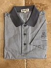 New NWT Pringle Mens White and Grey Polo Style Golf Shirt w Pringle Sleeve Logo