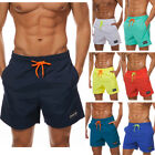 Mens Beachwear Board Shorts Surf Bathing Swim Swimsuit with Pockets Bright Color