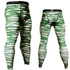 Men's Sports Workout Legging Athletic Compression Base Layers Long Pants Camo
