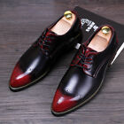 British Brogue Retro Mens Carving Business formal Dress Fashion Pointy Toe Shoes