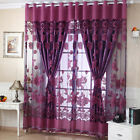 US Hedonism Window Blackout Tulle Curtain Floral Voile Living Room Drape Panel NEW
