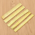 Gold Watch Band Elastic Stainless Vintage Strap Men Bracelet Coil 14mm To 22mm image