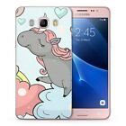 Colorful Rainbow Unicorn Pegasus Cartoon Funny Cover Case Fits Samsung Galaxy