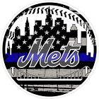 New York Mets Thin Blue Line MLB Color Vinyl Decal / Sticker Sizes Free Shipping on Ebay